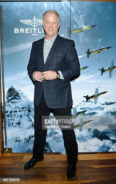 Boomer Esiason attends the Boomer Esiason Previews Super Bowl XLVIII With Guests At Breitling Boutique New York January 28 2014 in New York City