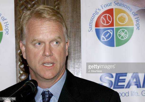 Boomer Esiason during Samsung's Four Seasons of Hope Press Conference at Cipriani's in New York City New York United States