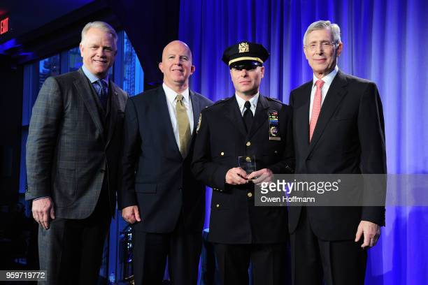 Boomer Esiason James O'Neill John Miedreich and H Dale Hemmerdinger attend the New York City Police Foundation 2018 Gala on May 17 2018 in New York...