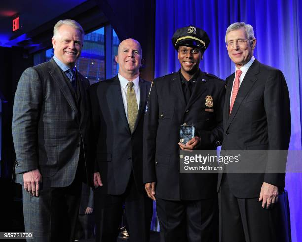 Boomer Esiason James O'Neill Johnny Hines and H Dale Hemmerdinger attend the New York City Police Foundation 2018 Gala on May 17 2018 in New York City