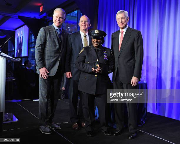 Boomer Esiason James O'Neill Tanya Duhaney and H Dale Hemmerdinger attend the New York City Police Foundation 2018 Gala on May 17 2018 in New York...