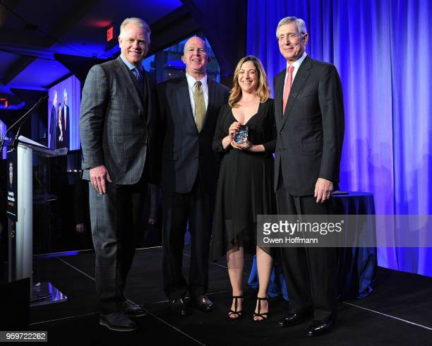 Boomer Esiason James O'Neill Yael Bartur and H Dale Hemmerdinger attend the New York City Police Foundation 2018 Gala on May 17 2018 in New York City