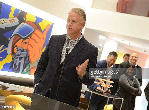 Boomer Esiason speaks druing the Boomer Esiason Previews Super Bowl XLVIII With Guests At Breitling Boutique New York January 28 2014 in New York City
