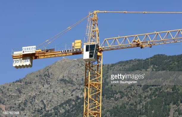 Booming construction industry in Andorra la Vella.