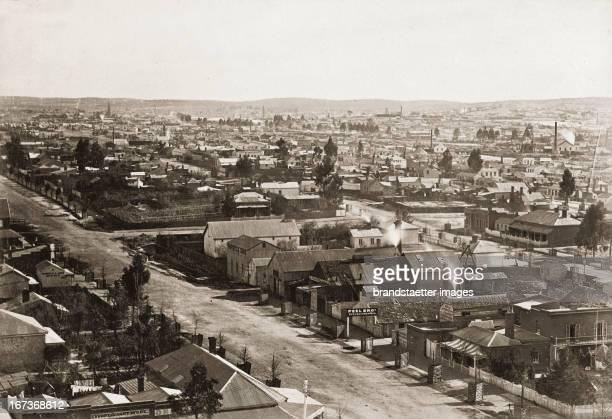 Booms town Sandhurst United Kingdom Photograph About 1885 Goldgräberstadt Sandhurst Großbritannien Photographie Um 1885