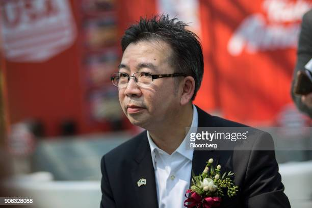 Boonchai Opasiamlikit chairman of the US at Charoen Pokphand Group attends a news conference at the US ambassador's residence in Bangkok Thailand on...