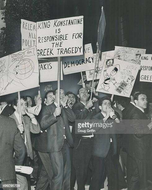 Boos for constantine; Angry pickets outside Granite Club shout and boo Greek King Constantine for his apparent support of military junta's seizure of...