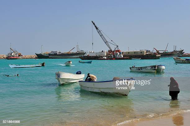 boosaaso port - bosaso stock pictures, royalty-free photos & images