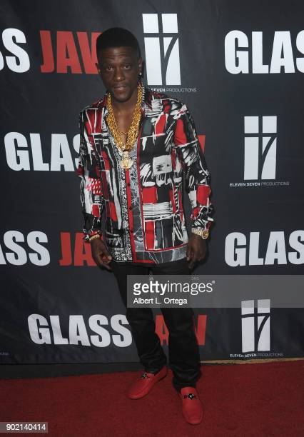 Boosie Bad Ass arrives for the premiere of 'Glass Jaw' held at Universal Studios Hollywood on November 9 2017 in Universal City California