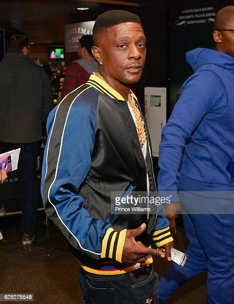 Boosie Badazz attends the Hawks V Pelicans at Philips Arena on November 22 2016 in Atlanta Georgia
