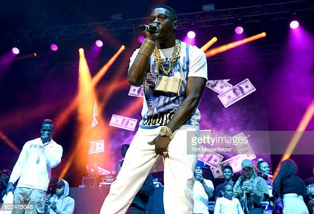 Boosie Badazz performs during the Collegrove Tour at ORACLE Arena on November 10 2016 in Oakland California