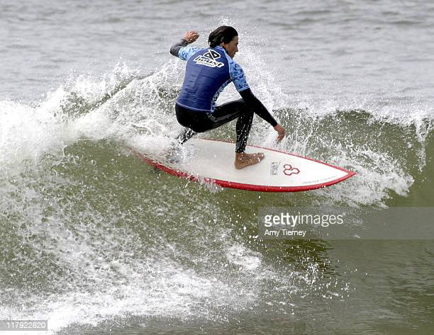 Boost Mobile celebrity rider Andrew Keegan in the Boost Mobile Pro and Celebrity surf contest at Monarch Beach in Laguna Nigel California on...