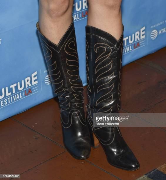 Boot fashion detail actress Alia Shawkat attends the Scandal Final Season Panel at Vulture Festival Los Angeles at Hollywood Roosevelt Hotel on...