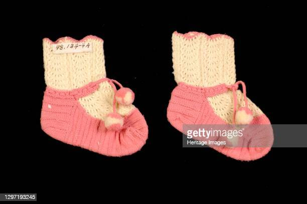 Bootees, American, circa 1860. Artist Unknown.