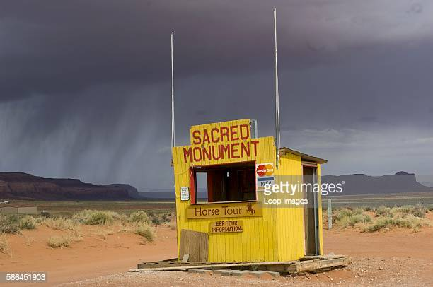 Booth advertising Sacred Monument Horse Tours