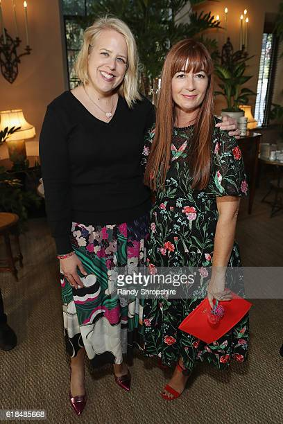Booth Moore and Chief Creative Officer and President of kate spade new york Deborah Lloyd at the CFDA/Vogue Fashion Fund Show and Tea presented by...
