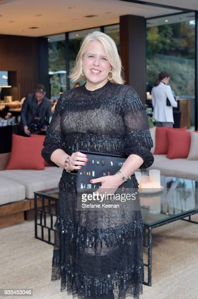 Booth Moore attends The Hollywood Reporter and Jimmy Choo Power Stylists Dinner on March 20 2018 in Los Angeles California