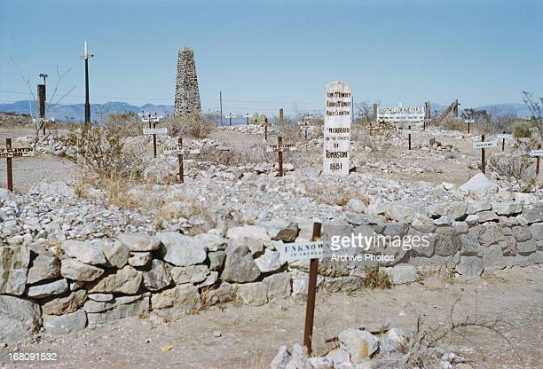 Boothill Cemetery, Tombstone, Arizona, circa 1965.