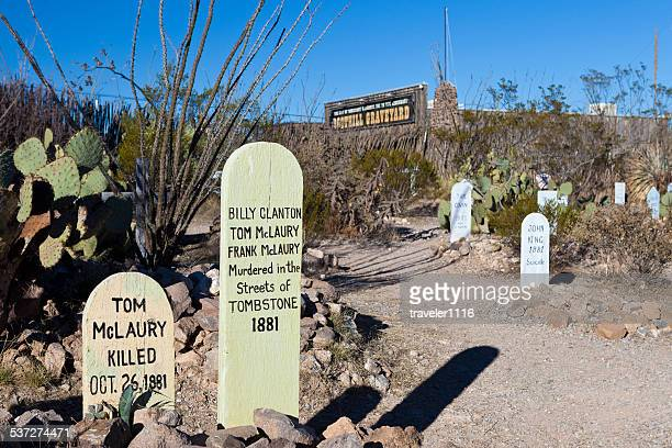 boothill graveyard in tombstone, arizona - tombstone arizona stock pictures, royalty-free photos & images