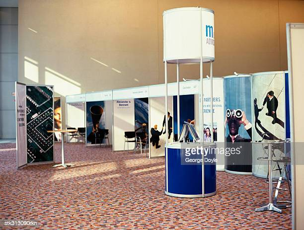 booths at an exhibition - tradeshow stock pictures, royalty-free photos & images