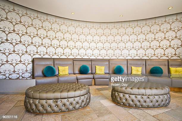 Booth-type seating area in modern home