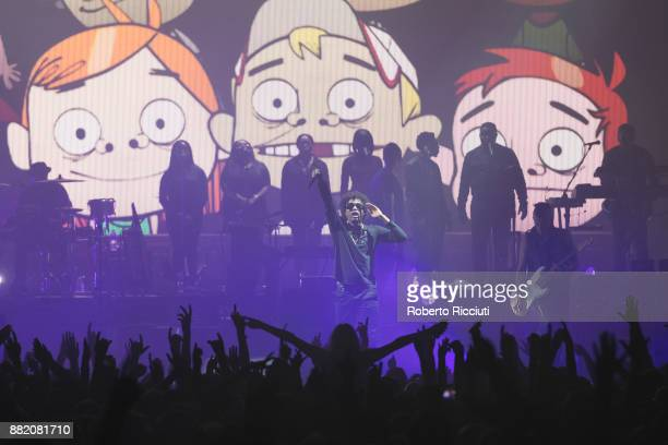 Bootie Brown of Gorillaz performs at The SSE Hydro on November 29 2017 in Glasgow Scotland