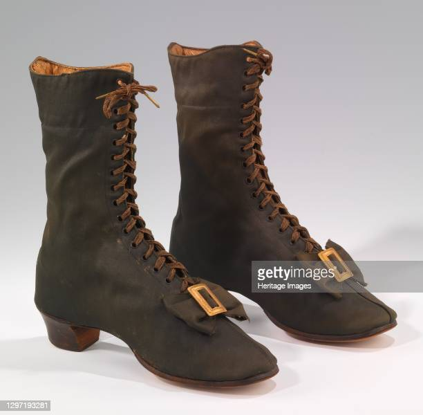 Boots, American, 1860-69. Artist Unknown.