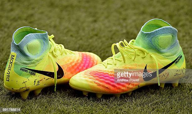 Boots of Lucas Leiva of Liverpool during a training session at Melwood Training Ground on August 19 2016 in Liverpool England
