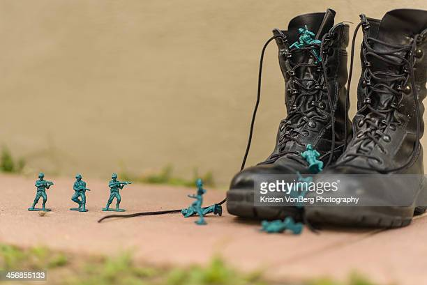boots on the ground - veterans day stock photos and pictures