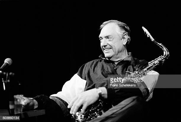 Boots Randolph, tenor saxophone, perform at the Paradiso on February 2nd 1991 in Amsterdam, the Netherlands.