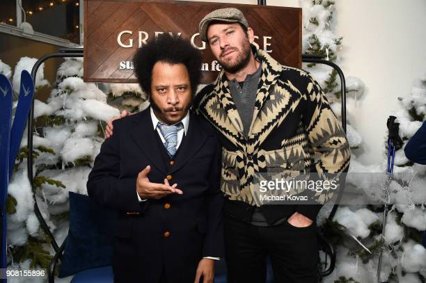 Boots Riley and Armie Hammer attend the 'Sorry to Bother You' After Party at Sundance Film Festival 2018 at The Grey Goose Blue Door on January 20...