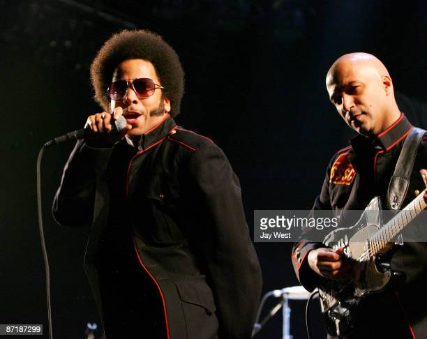 Boots Riley and Tom Morello of Street Sweeper Social Club perform in concert at The Frank Erwin Center on May 12 2009 in Austin Texas