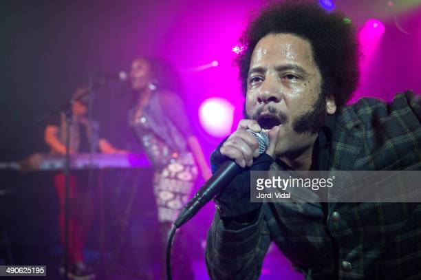 Boots Riley of the Coup performs on stage at Sala Apolo on May 14 2014 in Barcelona Spain