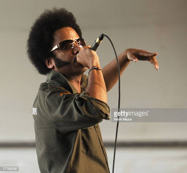 Boots Riley of The Coup performs with Tom Morello of The Nightwatchman