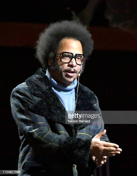 Boots Riley speaks at An Artist at the Table Dinner and Program during the 2019 Sundance Film Festival at Utah Film Studios on January 24 2019 in...