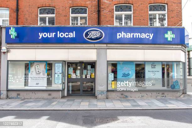 Boots store in Sidcup, London.