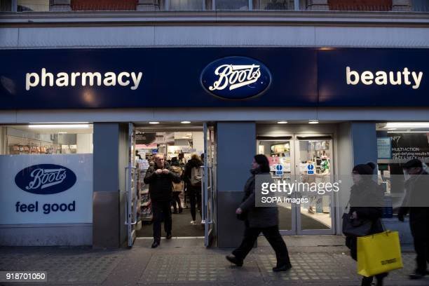 Boots store seen in London famous Oxford street Central London is one of the most attractive tourist attraction for individuals whose willing to shop...