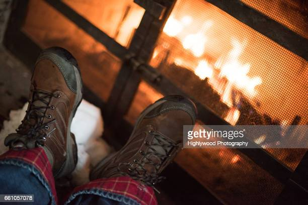 Boots Up By the Fire
