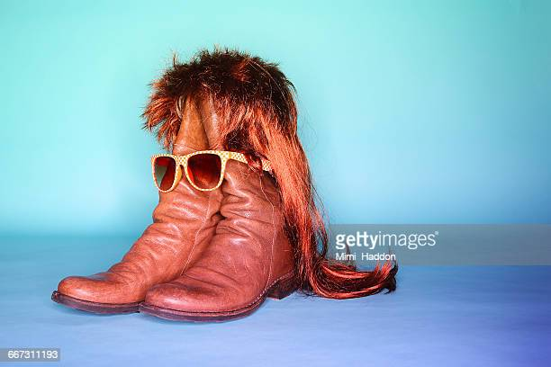 Boots Wearing Wig and Glasses