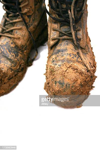 Boots with mud on