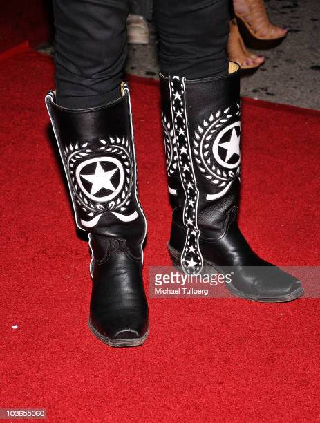 Boots worn by musician Lemmy Kilmister at the 3rd Annual Sunset Strip Music Festival's tribute to Slash held at the House Of Blues on August 26 2010...