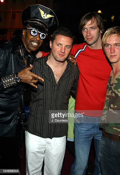 Bootsy Collins with Steve Smith, Paul Harris and Ben Harris of Dirty Vegas