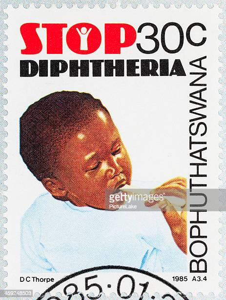 bophuthatswana stop diphtheria  postage stamp - diphtheria stock photos and pictures