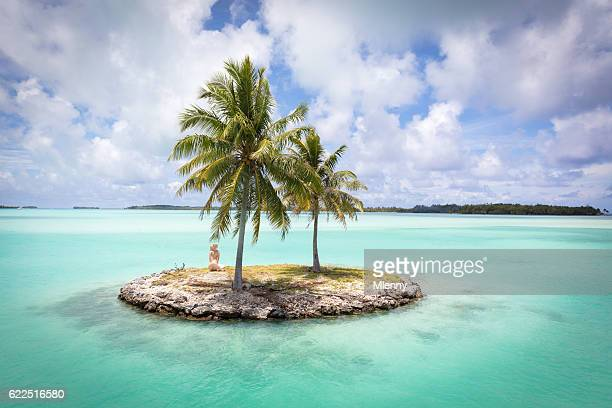 bora bora island airport lagoon islet french polynesia - island stock pictures, royalty-free photos & images