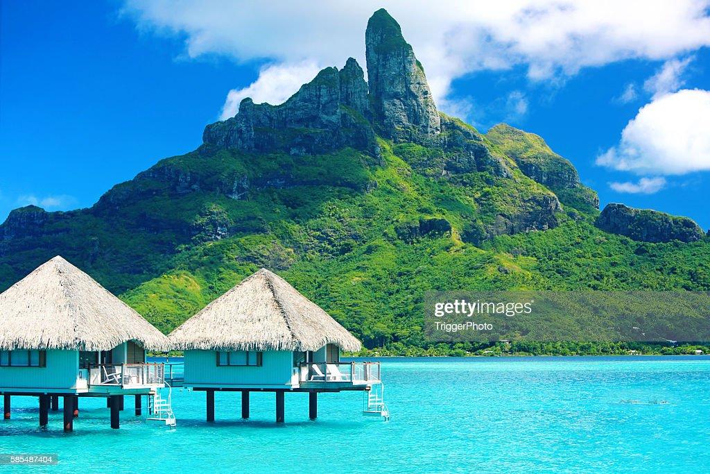 Bora Bora Tahiti Mt Otemanu : Stock Photo