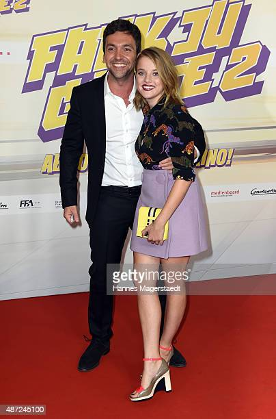 Bora Dagtekin and Jella Haase attend the 'Fack ju Goehte 2' Munich Premiere at Mathaeser Filmpalast on September 7 2015 in Munich Germany