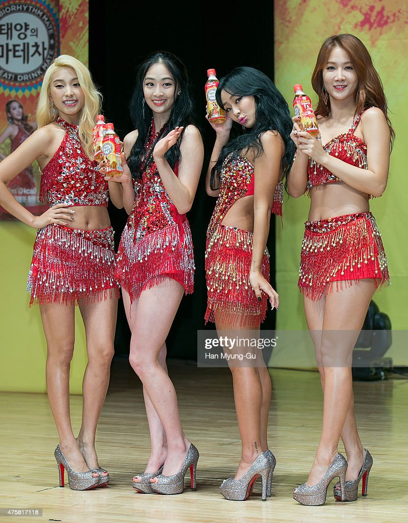 Bora, Dasom, Hyolyn (Hyorin) and Soyou of South Korean girl group SISTAR attend Coca Cola - Mate - Mate Body Show Time with SISTAR on June 4, 2015 in Seoul, South Korea.