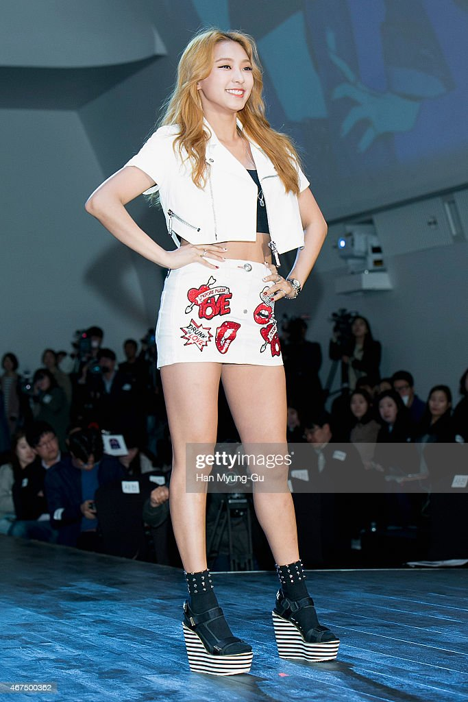 Bora of South Korean girl group SISTAR attends the photocall for KBS 2TV K-Style (beauty, fashion, lifestyle) program 'A Style For You' on March 25, 2015 in Seoul, South Korea. The program will open on April 05, in South Korea.