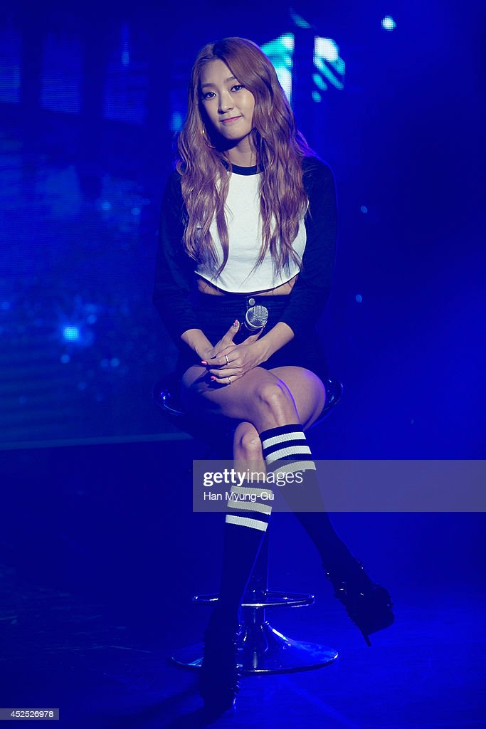 Bora of South Korean girl group SISTAR performs onstage during their new album 'Touch and Move' showcase at Ilchi Art Hall on July 21, 2014 in Seoul, South Korea.