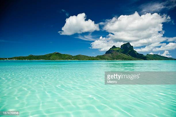 bora-bora paradise - tahiti stock pictures, royalty-free photos & images